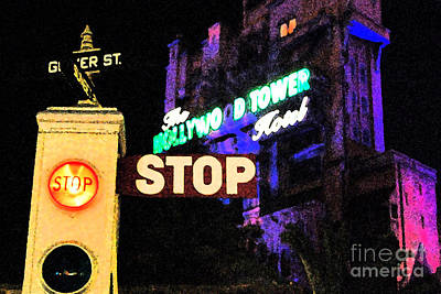 Digital Art - Twilight Zone Tower Of Terror Stop Sign Hollywood Studios Walt Disney World Prints Fresco by Shawn O'Brien