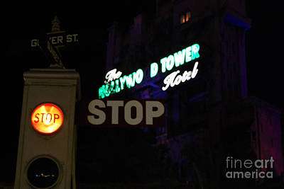 Photograph - Twilight Zone Tower Of Terror Stop Sign Hollywood Studios Walt Disney World Prints by Shawn O'Brien