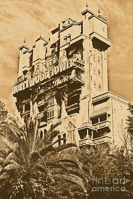 Digital Art - Twilight Zone Tower Of Terror Vertical Hollywood Studios Walt Disney World Prints Rustic by Shawn O'Brien