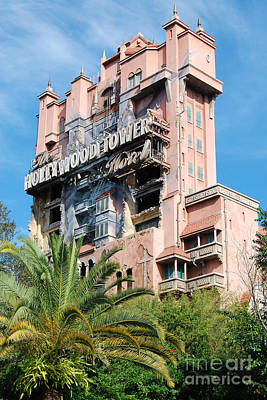 Photograph - Twilight Zone Tower Of Terror Vertical Hollywood Studios Walt Disney World Prints by Shawn O'Brien