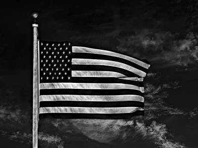 Old Glory Mixed Media - Twilight's Last Gleaming Bw by David Dehner