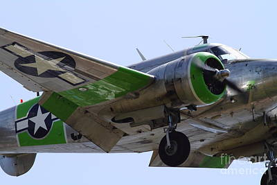 Photograph - Twin Beech C-45 Expeditor . 7d15422 by Wingsdomain Art and Photography