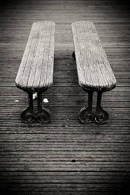 Art Print featuring the photograph Twin Benches by Edward Myers