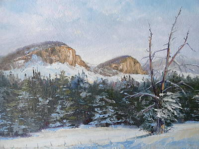 Painting - Twin Buttes Wyoming 2 by Judy Fischer Walton