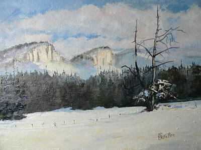 Painting - Twin Buttes Wyoming by Judy Fischer Walton