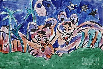 Twin Cubs Art Print