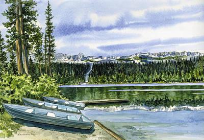 twin lakes Mammoth Art Print by Mark Jennings
