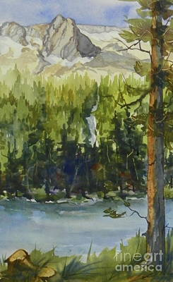 Painting - Twin Lakes View Of Crystal Crag by Pat Crowther