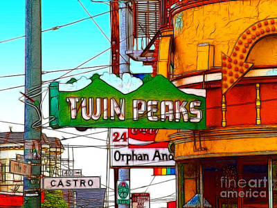 Castro District Digital Art - Twin Peaks Bar In San Francisco by Wingsdomain Art and Photography