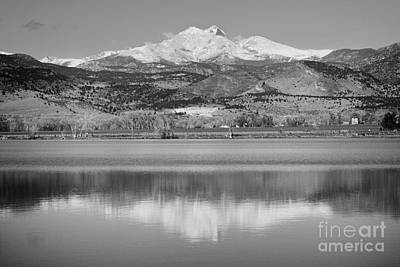 Photograph - Twin Peaks Mccall Reservoir Reflection Bw by James BO Insogna