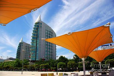 Condominiums Photograph - Twin Towers by Carlos Caetano