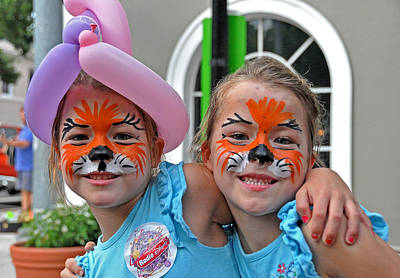 Photograph - Twins With Face Paint by John Black