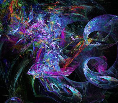 Abstract Digital Art - Twirling by Ricky Barnard