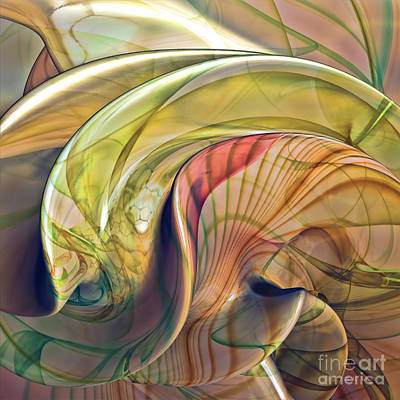 Incendia Digital Art - Twist Of Color by Deborah Benoit