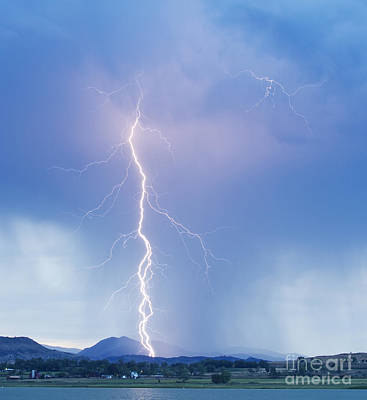 Twisted Lightning Strike Colorado Rocky Mountains Art Print