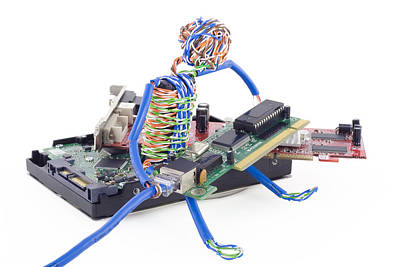 Twisted Man Assemblage The Computer Art Print