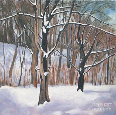 Painting - Twisted Trunks by Joan McGivney