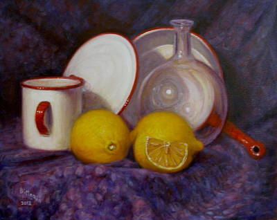Two And A Half Lemons Art Print by Donelli  DiMaria