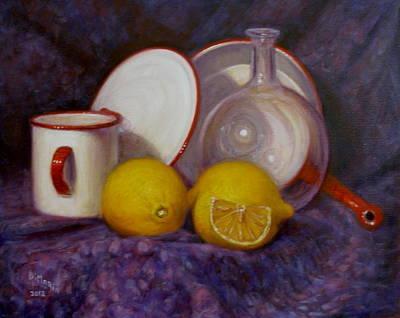 Two And A Half Lemons Art Print