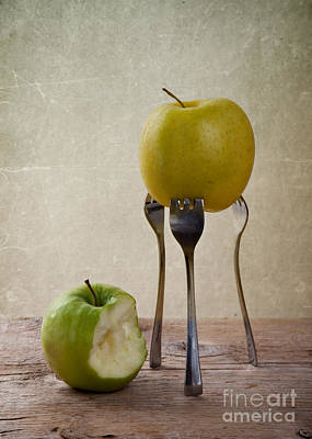 Apple Photograph - Two Apples by Nailia Schwarz