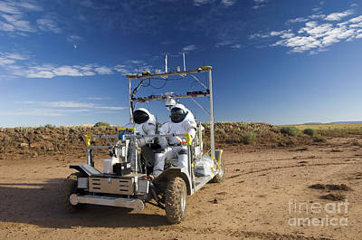 Photograph - Two Astronauts Take A Ride On Scout by Stocktrek Images