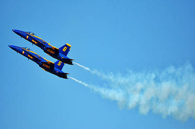 Photograph - Two Blue Angels by Kelly Reber