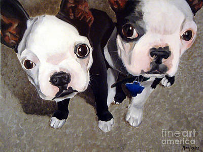 Wall Art - Painting - Two Bossies by Michael Ivy
