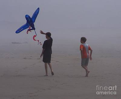 Photograph - Two Boys And A Kite by Erica Hanel