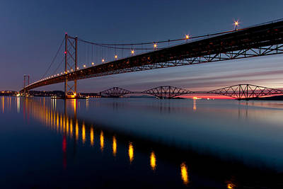 Y120907 Photograph - Two Bridges During Dawn by Gettyimages
