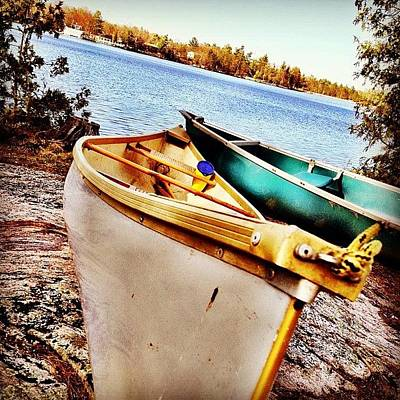 Instahub Photograph - Two Canoes by Christopher Campbell