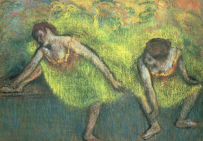 Ballerina Painting - Two Dancers Relaxing by Edgar Degas
