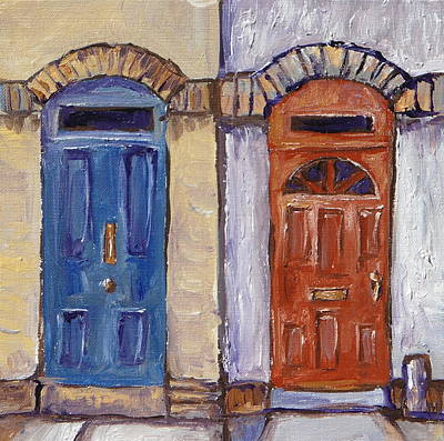 Landscape Painting - Two Doors by Sandy Tracey