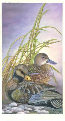 Painting - Two Ducks by Mary Jo Zorad