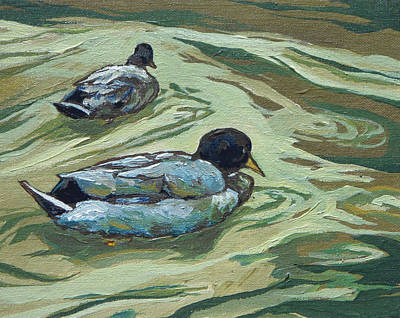 Painting - Two Ducks by Sandy Tracey