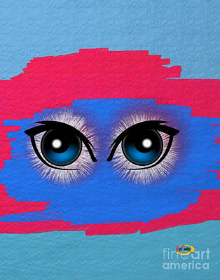 Two Eyes Art Print by Rod Seeley