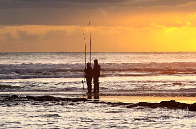 Sun Photograph - Two Fisherman by Carlos Caetano