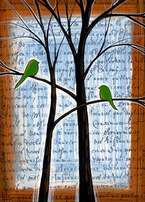 Two For Trees Original by Amy Giacomelli