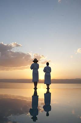Two Friends Enjoy The Warm Sun Art Print by Taylor S. Kennedy