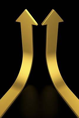 Two Golden Arrows Art Print