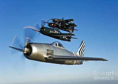 Photograph - Two Grumman F8f Bearcats And Two F7f by Scott Germain