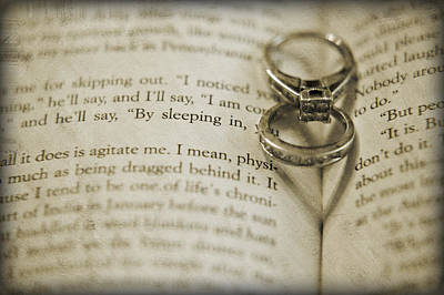 Custom Engagement Ring Photograph - Two Hearts by Malania Hammer