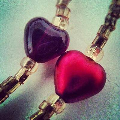 Jewelry Wall Art - Photograph - Two Hearts by Vicki Field