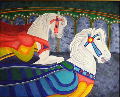 Painting - Two Horse Metamorphosis by Paul Amaranto