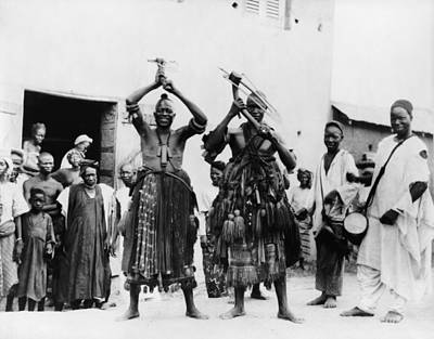 African Traditional Dances Photograph - Two Itinerant Medicine Men On A Street by Everett