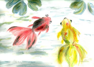 Two Little Fishes Art Print by Alethea McKee