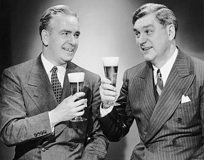 Beer Photograph - Two Men With Alcoholic Beverages by George Marks