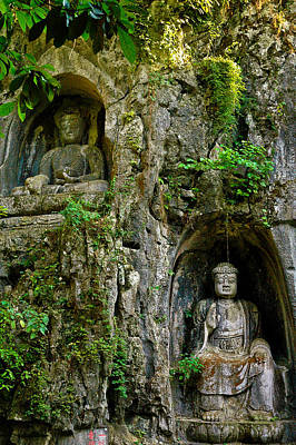 Photograph - Two Mountain Buddhas by Harry Spitz