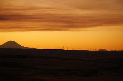 Photograph - Two Mountain Sunset by Angi Parks