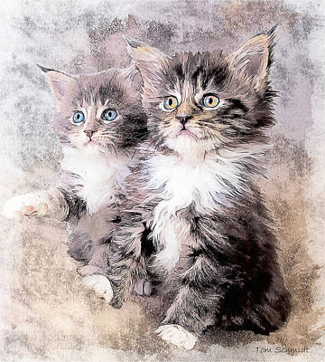 Tom Schmidt Painting - Two Of A Kind by Tom Schmidt