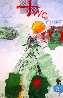Painting - Two Of Clubs 51-52 by Cliff Spohn